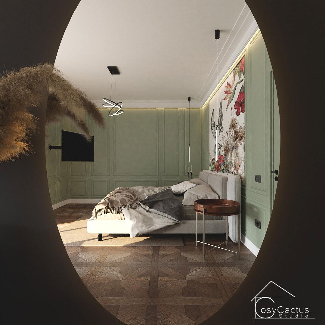 design dormitor tapet personalizat
