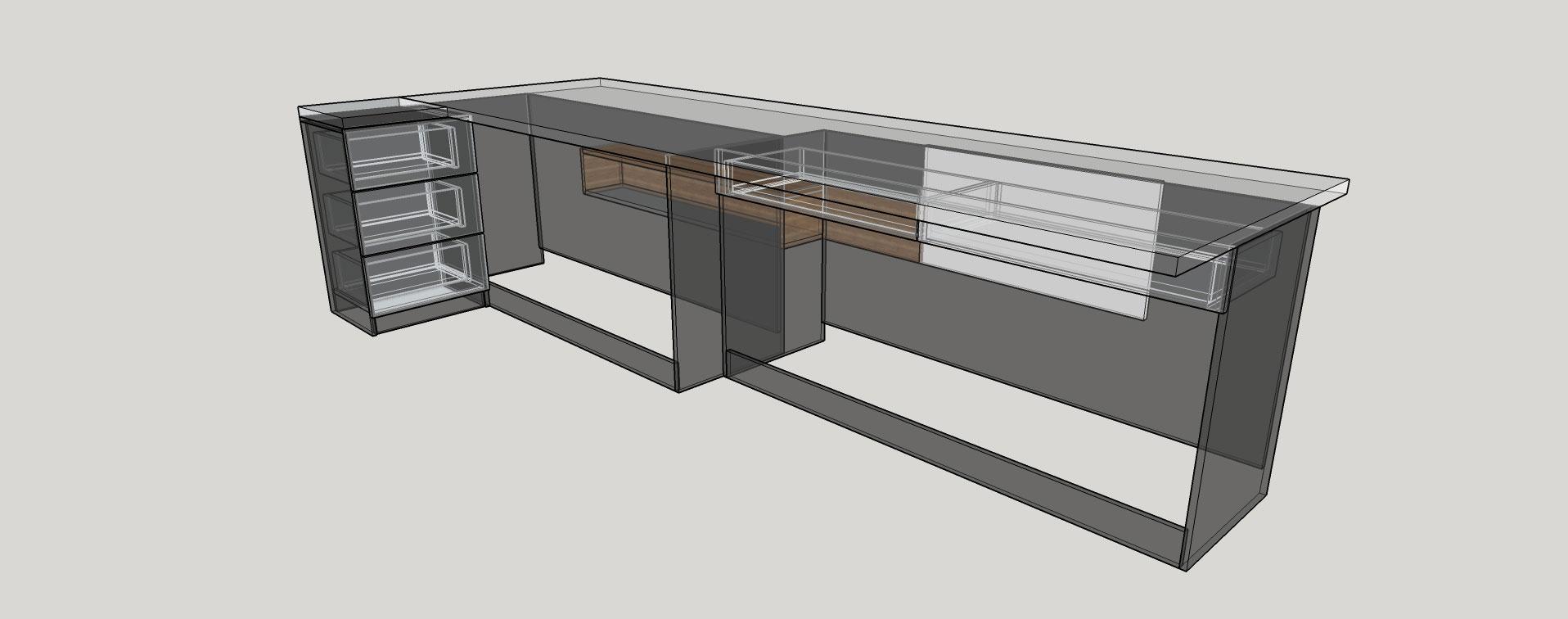 schita mobilier birou