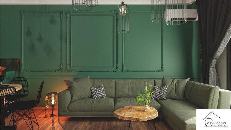 perete verde living